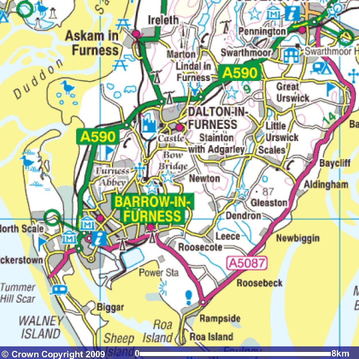Walney Island Street Map